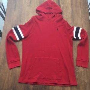Polo Long Sleeve Hooded Shirt